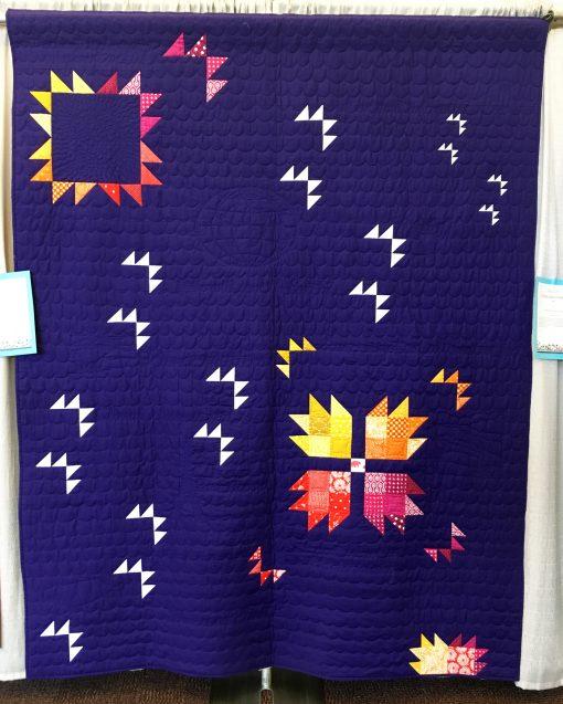 Niagara Modern Quilt Guild   QuiltCon 2018   bear paw block   quilt   modern   modern traditionalism