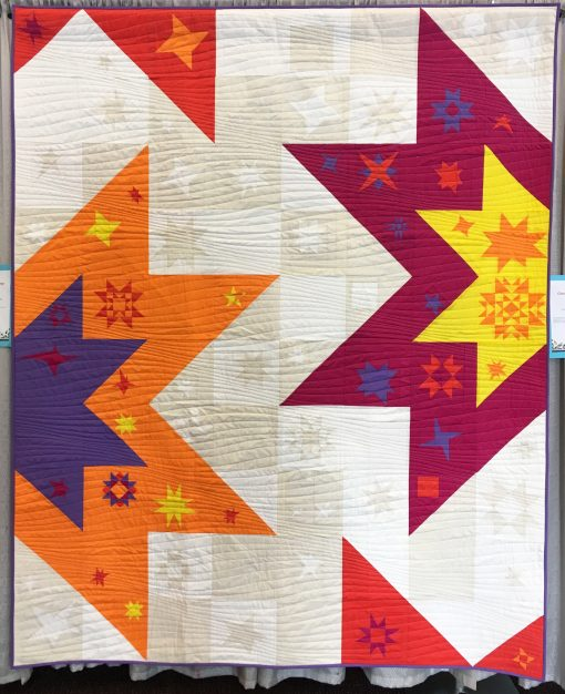 North Jersey Modern Quilt Guild | QuiltCon 2018 | Star block | quilt | modern | modern traditionalism