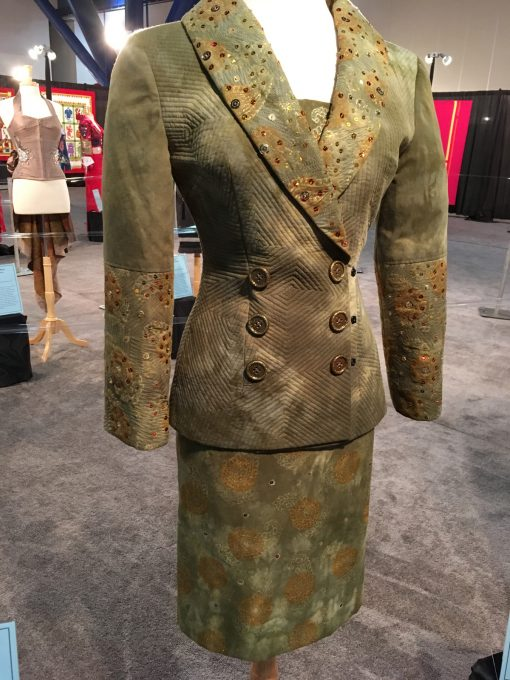 wearable art, Gilbert Muniz, handcrafted. emblishment, fashion, quilted, suit