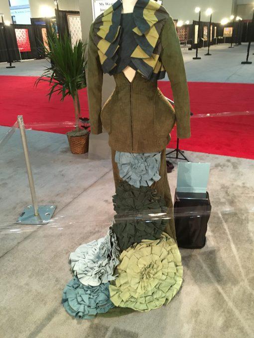wearable art, Gilbert Muniz, handwork,  fashion, machine quilted,  quilted, dress
