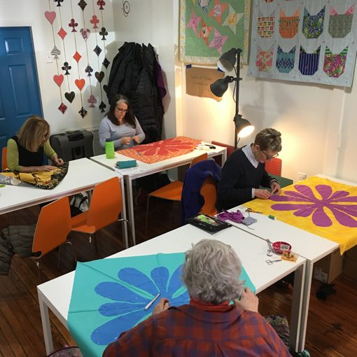 hawaiian, applique, modern, quilt, quilting, beacon + fred, local, quilt shop, Beacon, NY, workshop, class, quilters, whole circle studio