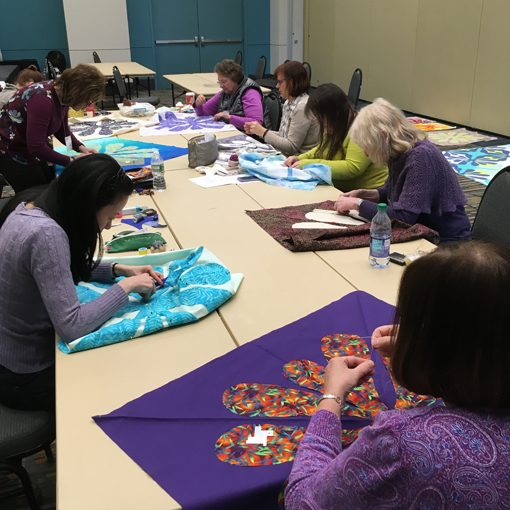 hawaiian, applique, modern, quilt, quilting, Stitches United, local, quilt shop, Hartford, CT workshop, class, quilters, whole circle studio