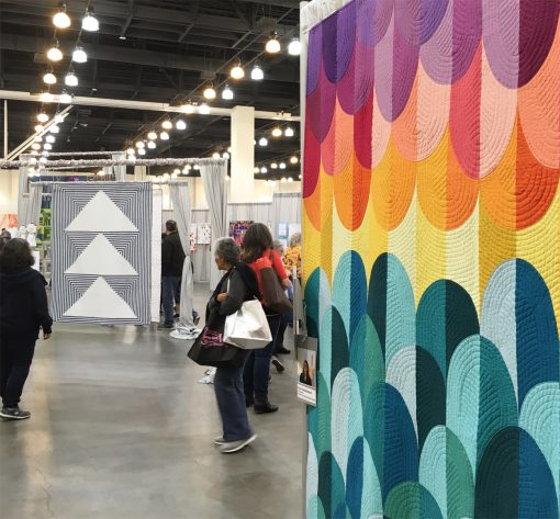 QuiltCon | QuiltCon 2018 | modern | quilt | Kona Sunset | Sheri Cifaldi-Morrill | Paintbrush Studio | fabric | solid quilt