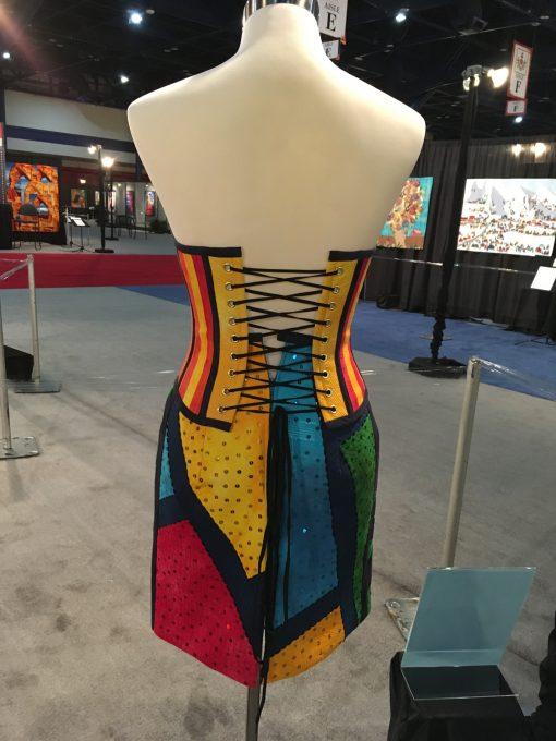 wearable art, Gilbert Muniz, handwork, embellishment, fashion, machine quilted, silk, quilted, dress