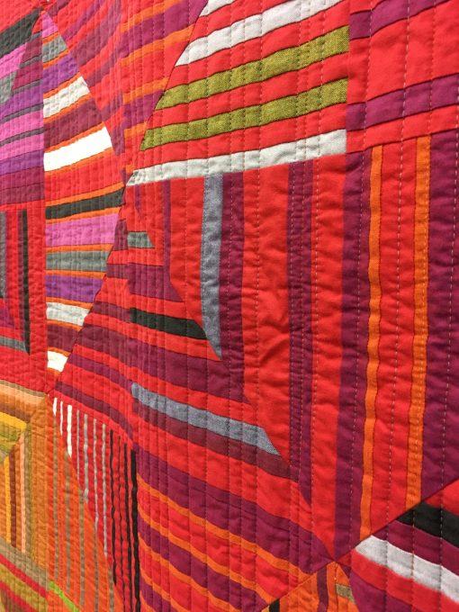Modern, quilt, color study, piecing, rainbow, Sarah Bond