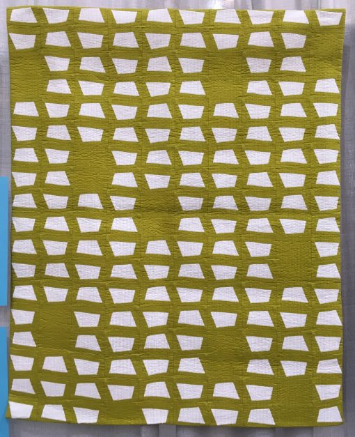 Amy Friend, modern, quilt, paper piecing, foundation paper pieced, improvisational, mini quilt, solid colors, matchstick, quilting, quiltcon, 2018, pasadena