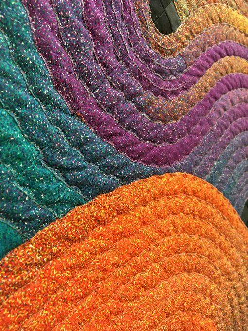 Etsuko Takahashi, quilt, SAQA, art quilt, modern, inspiration, Japan, QuiltCon, 2018, pasadena, machine pieced, applique, quilted