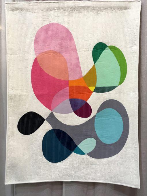 Annabel Wrigley, applique, machine applique, quilted, modern, quilt, modern art, sewing