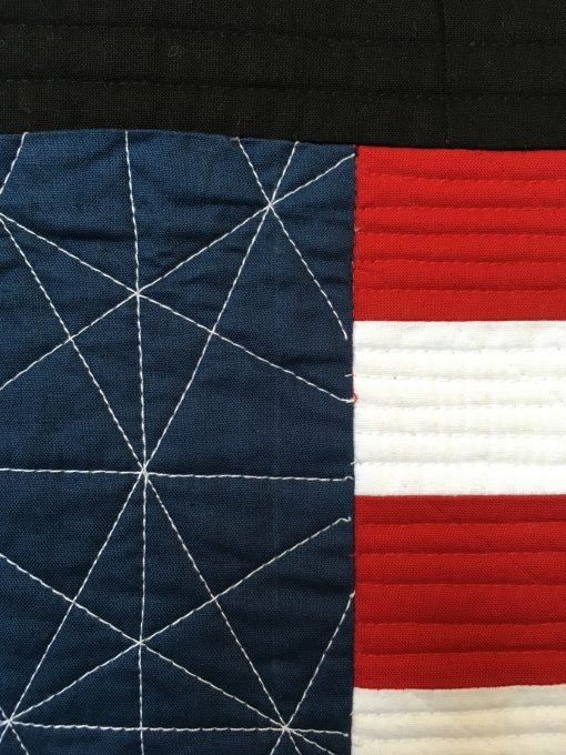 Jacquie Gering, Kansas City, modern quilt, walking foot, quilting, American flag, modern art, minimalist design, QuiltCon