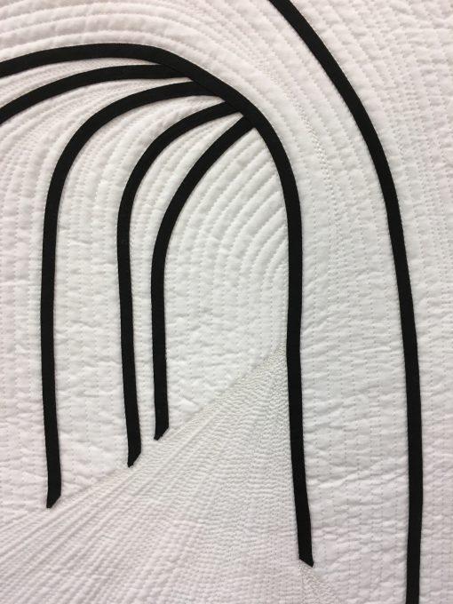 Debbie Grifka, applique, machine, quilt, quilted, minimalist, lines, QuiltCon