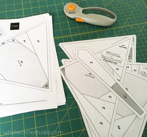 Butterfly Bunch foundation paper piecing templates cutting in progress! These paper pieces will soon be a foundation for a beautiful modern quilt.