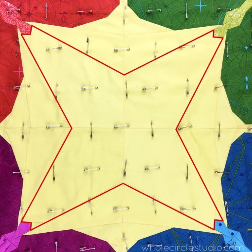 Learn how I plan my quilting designs. Often, I like to follow a prominent seam in my quilt top. This strategy can accentuate the quilt top design making it the star of the show!