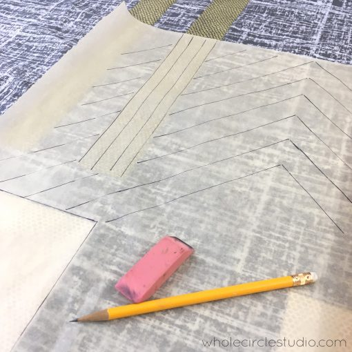 Not sure how you want to quilt your project? Use tracing paper to sketch it out.
