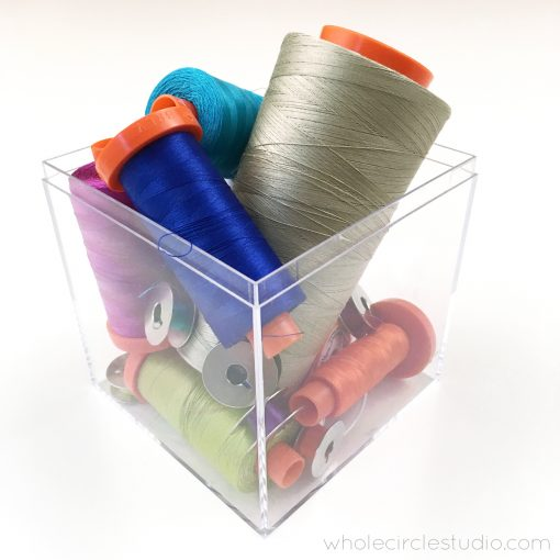 Is there anything more beautiful than a rainbox box of thread? Here is part of my Aurifil thread collection.