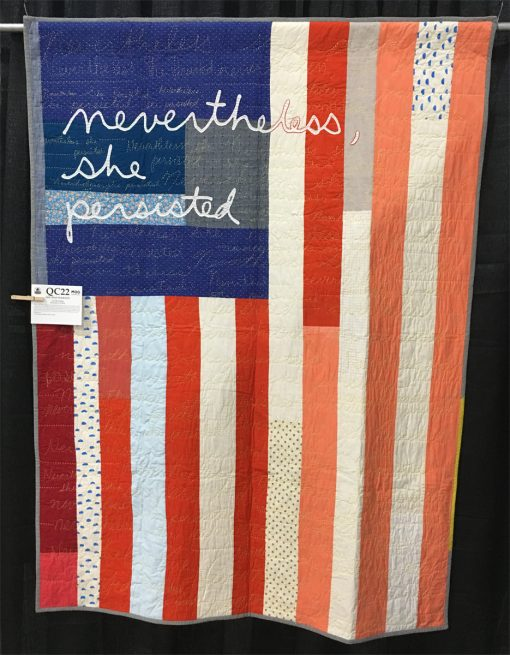 """She Was Warned"" by LIz Harvatine. Modern Handwork quilt"