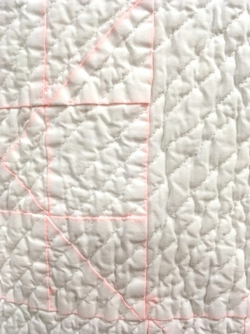 "detail of ""White on White"" by Robert J. Bosscher Modern Minimalist Design quilt"