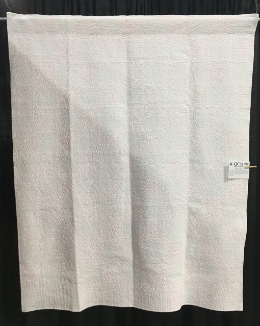 """""""White on White"""" by Robert J. Bosscher Modern Minimalist Design quilt"""
