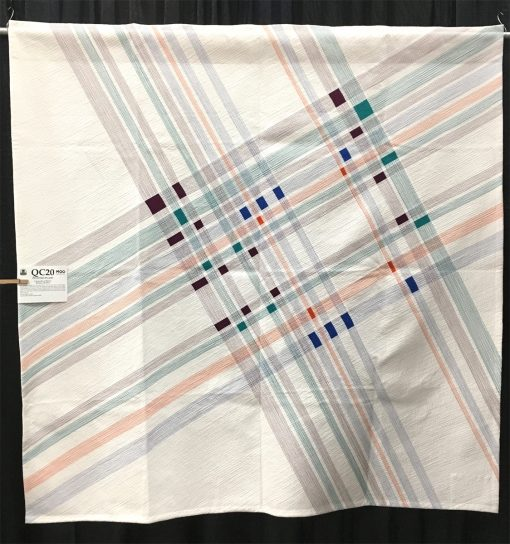 """Pivoted Plaid"" by Cassandra I. Beaver. Modern Use of Negative Space quilt"