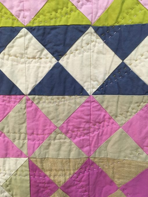 "detail of ""Hourglass Quilt"" by Tara Faughnan. Modern Traditionalism quilt"