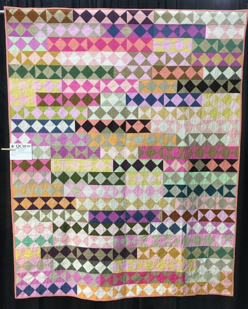 """Hourglass Quilt"" by Tara Faughnan. Modern Traditionalism quilt"