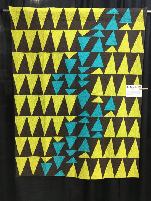 """""""Rise Up"""" by Kendra Nitta. merican Patchwork & Quilting Flying Geese Challenge"""