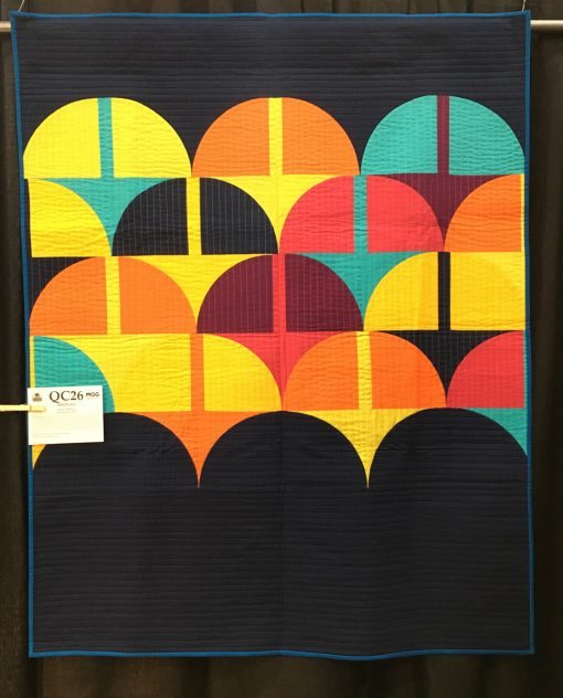 """Bridges"" by Anne Sullivan. Modern Quilt Guild 2017 Quilt of the Month Category"