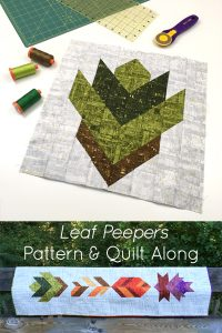 Looking for a fun, autumn quilting project?Join Leah Day and Sheri Cifaldi-Morrill of Whole Circle Studio in this easy fall quilt along. Leaf Peepers is the perfect table runner or wall hanging for Thanksgiving. Join us as we give tips and tutorials as we make these quilt blocks together!