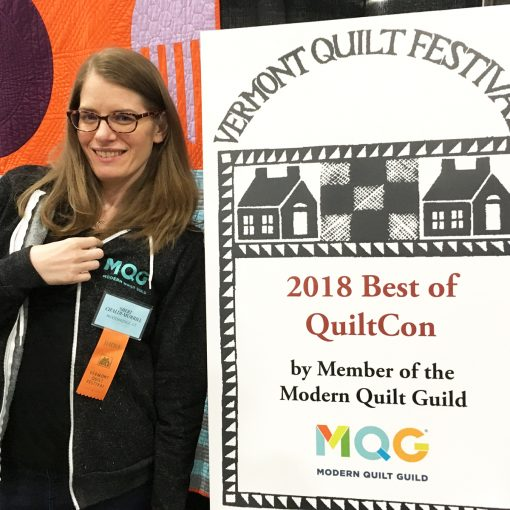 Best of QuiltCon 2018 at the Vermont Quilt Festival. A curated collection of modern quilts shown in Pasadena, California by the Modern Quilt Guild