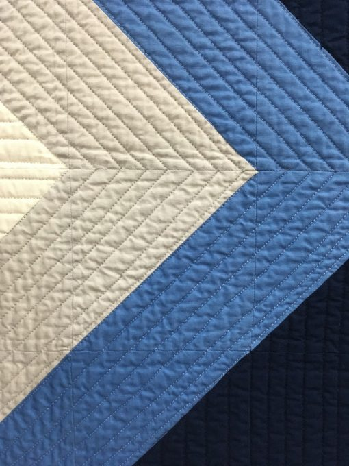 """detail of """"Cielo"""" by Kristi A. Schroeder. Use of Negative Space Modern Quilt"""