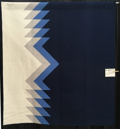 """Cielo"" by Kristi A. Schroeder. Use of Negative Space Modern Quilt"