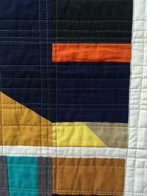 "detail of ""Color Grid 01"" by Kari Anderson. Category: Improvisation Modern Quilt"