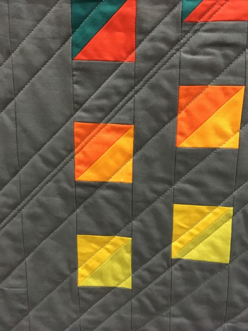 "detail of ""Rocky Mountain High"" by Kathryn Upitis. Category: Minimalist Design Modern Quilt"