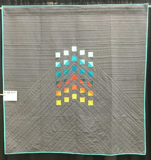 """Rocky Mountain High"" by Kathryn Upitis. Category: Minimalist Design Modern Quilt"