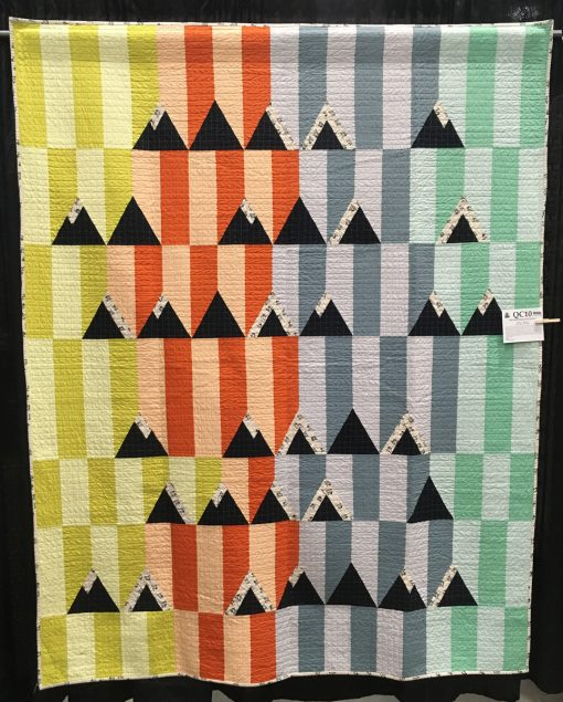 """The Switzerland Quilt"" by Vicky F. Mueller. Category: Piecing Modern Quilt"