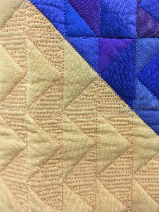 "detail of ""Opposites"" by Katherine Jones. Category: American Patchwork & Quilting Flying Geese Quilt Challenge modern quilt"