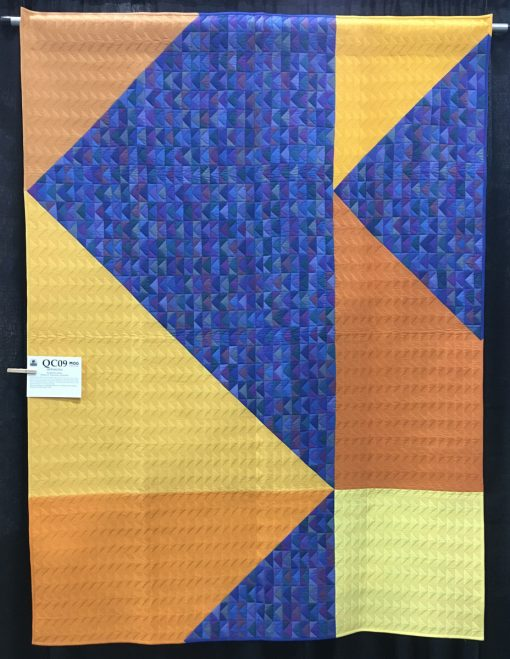 """Opposites"" by Katherine Jones. Category: American Patchwork & Quilting Flying Geese Quilt Challenge modern quilt"