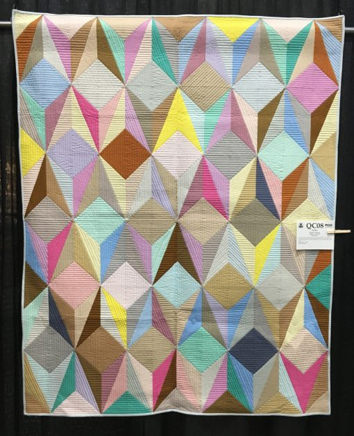 """Aura"" by Nydia S. Kehnle. Quilted by Gina Pina. Category: Piecing Modern Quilt"