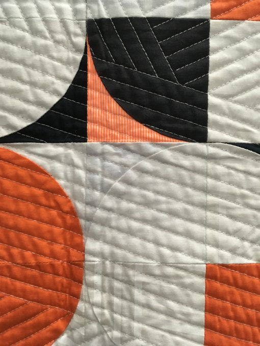 "detail of ""Orange Pop"" by Sophie Zaugg. Category: Small Quilts Modern Quilts"