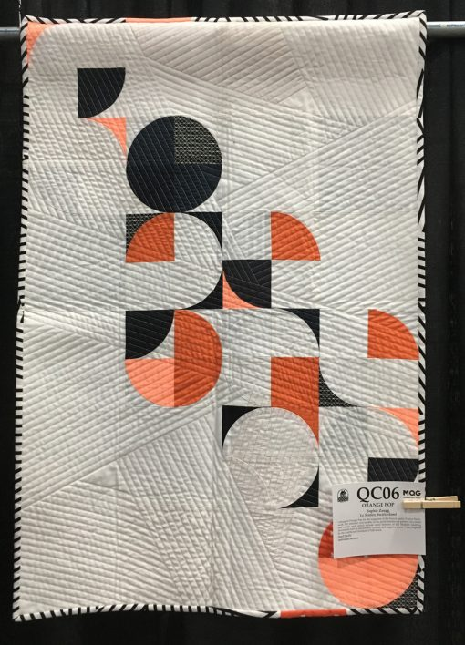 """""""Orange Pop"""" by Sophie Zaugg. Category: Small Quilts Modern Quilts"""