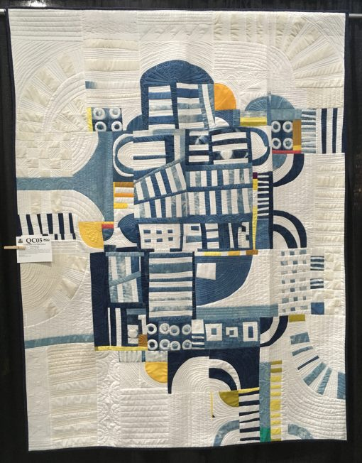 """Clinging to the Edge"" by Irene Roderick. Category: Improvisation Modern Quilt."