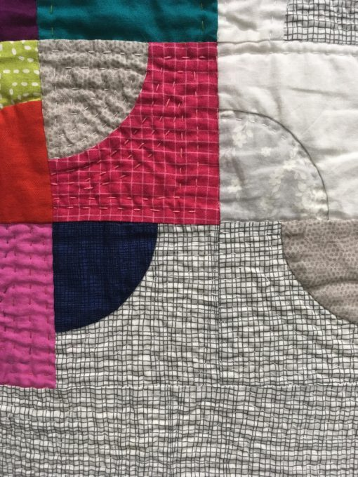 """detail of """"Mod Drunk"""" by Wanda A. Dotson. Category: Modern Traditionalism Modern Quilt"""