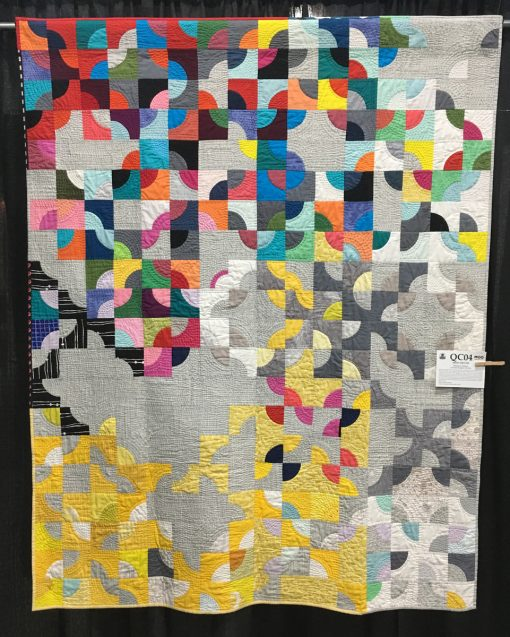 """Mod Drunk"" by Wanda A. Dotson. Category: Modern Traditionalism Modern Quilt"