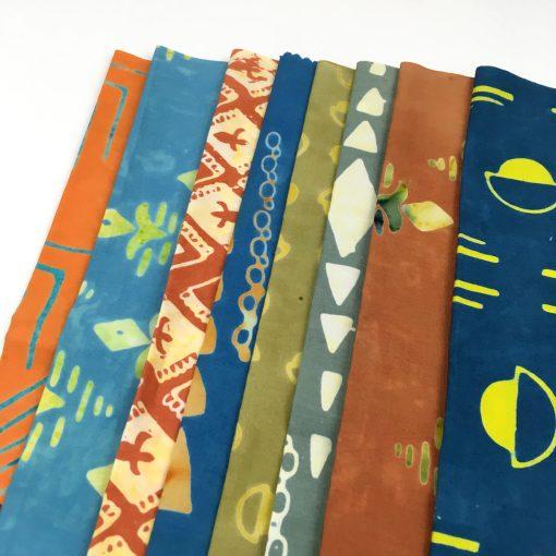 Tie One On, modern batik collection by Scott Hansen, Blue Nickel Studio, for Banyon Batiks