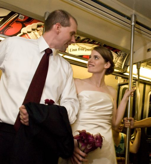 A NYC Wedding: Sheri Cifaldi + Jason Morrill on the subway