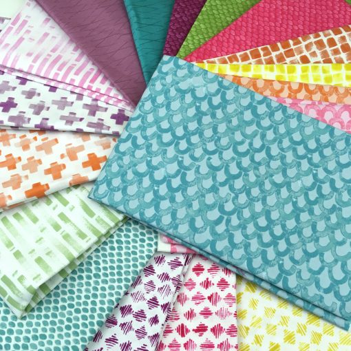 By Hand, a new modern fabric collection designed by Amy Friend (During Quiet Time) for Comtempo, a division of Benartex.