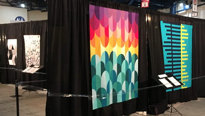 Big Island Sunset by Whole Circle Studio / Sheri Cifaldi-Morrill featured at the 2018 Modern Quilt Showcase at International Quilt Festival in Houston.