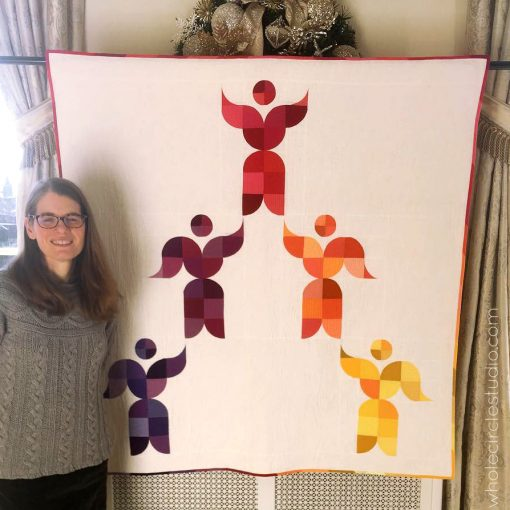 "Lift Up, a modern quilt commissioned by the Arts Council of Greater New Haven on display at their 38th Annual Arts Awards at the New Haven Lawn Club. Designed by Sheri Cifaldi-Morrill of Whole Circle Studio. The theme was ""Phenomenal Women""."