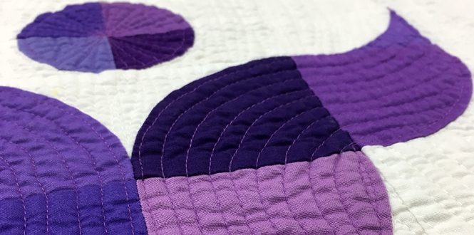 walking foot quilting Lift Up, a modern quilt by Sheri Cifaldi-Morrill of Whole Circle Studio