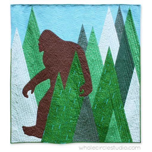 Sasquatch, a modern commissioned quilt, by Sheri Cifaldi-Morrill of Whole CIrcle Studio