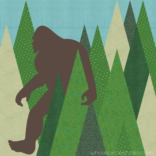 Design for Sasquatch, a modern commissioned quilt, by Sheri Cifaldi-Morrill of Whole CIrcle Studio